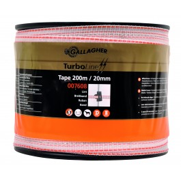 gallagher turboline wit 20mm  200mtr