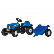 Rolly Toys RollyKid New Holland TVT 190 + aanhanger