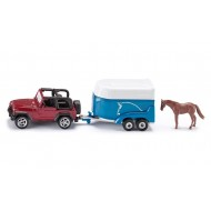Siku Jeep met paardentrailer 1:55