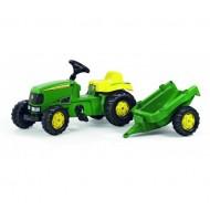 Rolly Toys Rollykid John Deere tractor + aanhanger