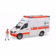 Bruder MB Sprinter ambulance met bestuurder 1:16