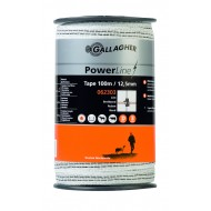 gallagher powerline lint 12.5mm wit 100mtr