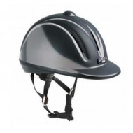 casco rijhelm youngster zwart shiny