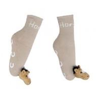 hkm anti-slip sokken beige 30-35