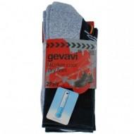 gevavi workwear sokken cool max, zwart 43-46