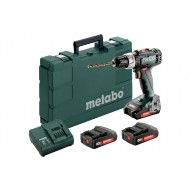 Metabo accu-boorschroefmachine BS 18L set, compleet met 3x 2Ah Li-on accu's, SC 60 plus lader.