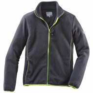 Terrax jas fleece Zwart/Lime