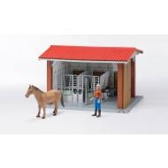 Bruder manege met figuur, paard en accesiores 1:16