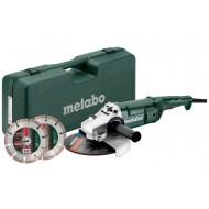 Metabo haakseslijper WE2200-230 in kunststof koffer en met 2 diamant doorslijpschijven