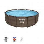 Bestway zwembad steel pro Max set rond Rotan 366cm
