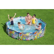 Bestway zwembad steel pro rond jungle 305cm
