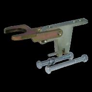 Fixed lock A60 ongekeurd 2x verticaal M12 voor ongeremde aanhangwagens
