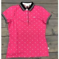 HV Polo shirt Samp flamingo roze