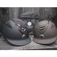 OneK helmet Defender Pro Matt Glitter Chrome zwart