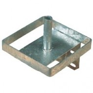 liksteenhouder vierkant, verzinkt