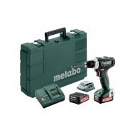 Metabo accu-boorschroefmachine Powermaxx BS 12 met 2 Li-power 2 Ah accu,'s en lader, in kunststof koffer