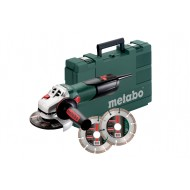 Metabo haakse slijper W9-125Q, set met 2 diamantschijven
